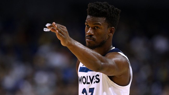 The Wolves reportedly tried to trade Jimmy Butler to the Pelicans and Wizards Photo