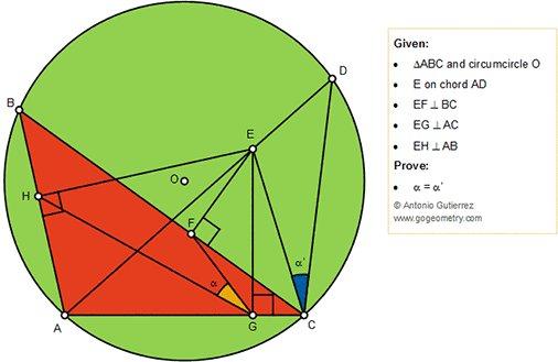 gogeometry #Geometry Problem 1399: #Triangle , #Circumcircle
