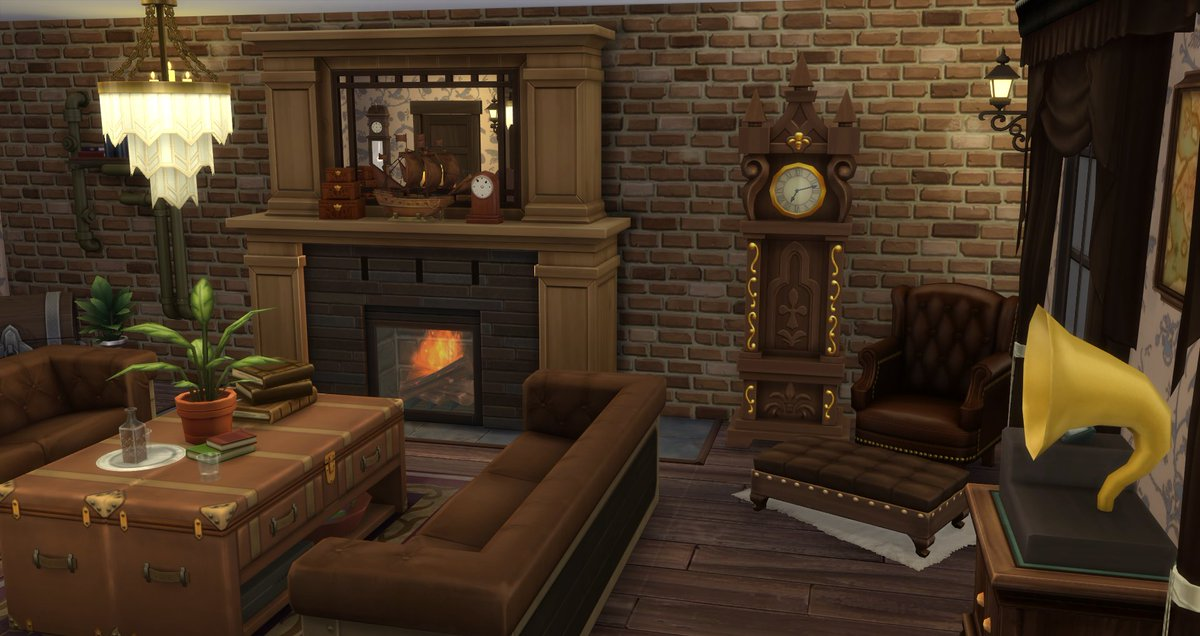 If you can balance the raw industrial style with the elegance of Victorian, then you can harness what is Steampunk. This living room is all about celebrating that iconic style 🏭 Find it in the #Sims4 gallery here: https://t.co/VHuLNBi1PS #TheSims