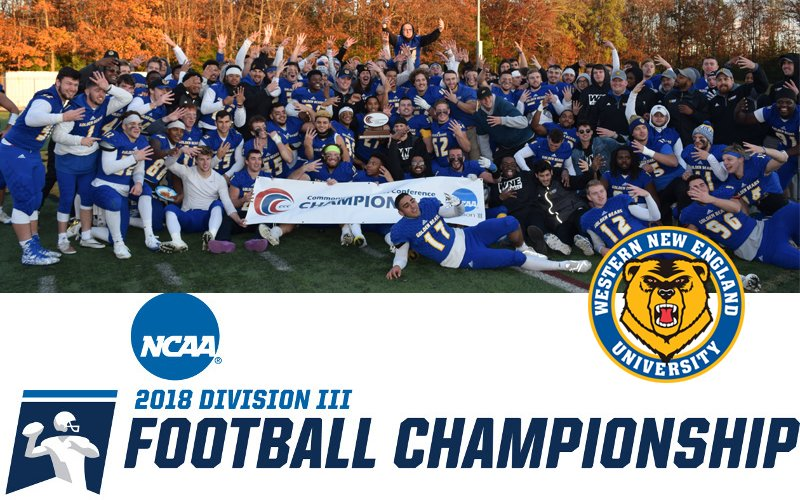 #CCCFB: @WNE_GoldenBears will travel to No. 6 Frostburg State for the first round of the @NCAADIII Championship: http://cccathletics.com/sports/fball/2018-19/releases/2018FBNCAASelection…  #d3fb