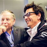 """""""Feeling extremely humbled after a call from Jean Todt 20 mins after the race to welcome us in the club of five. It feels unbelievable. Thank you, Jean"""" - Toto  #HiFive #F1 #BrazilGP"""