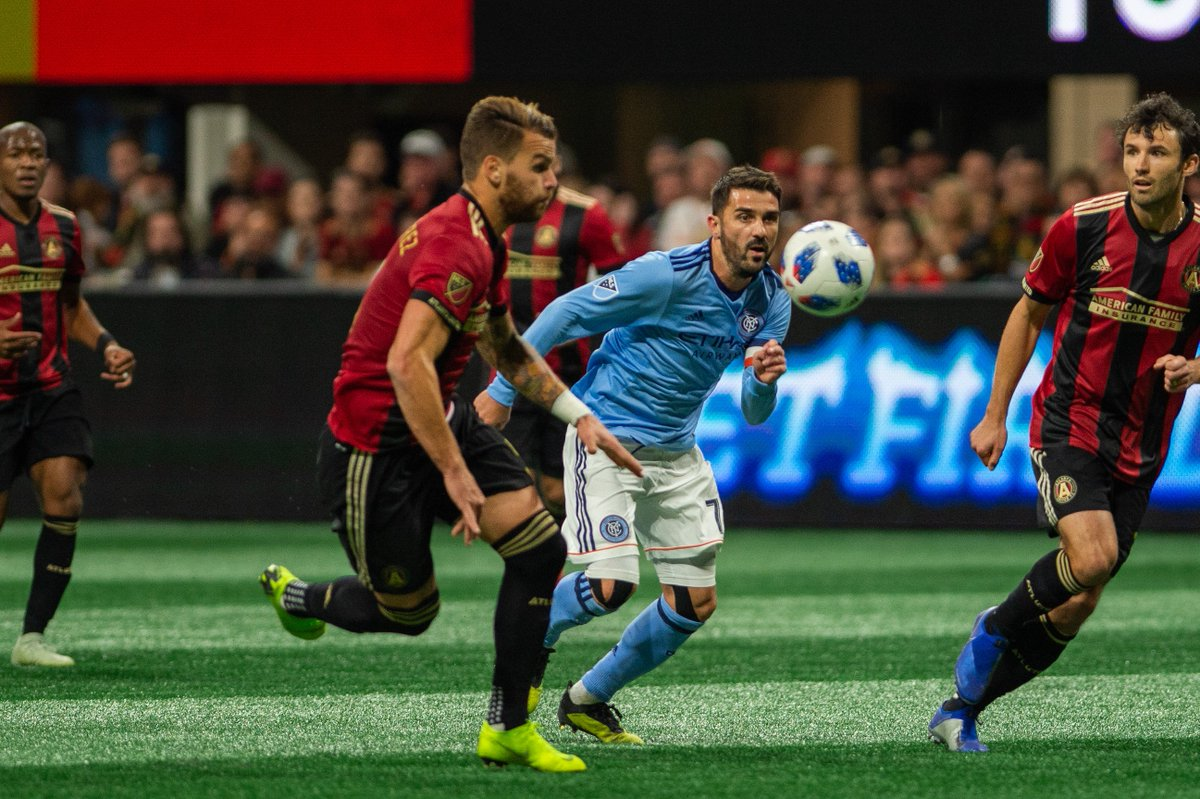 David Villa, en un lance del Atlanta-New York City (Foto: @NYCFC).