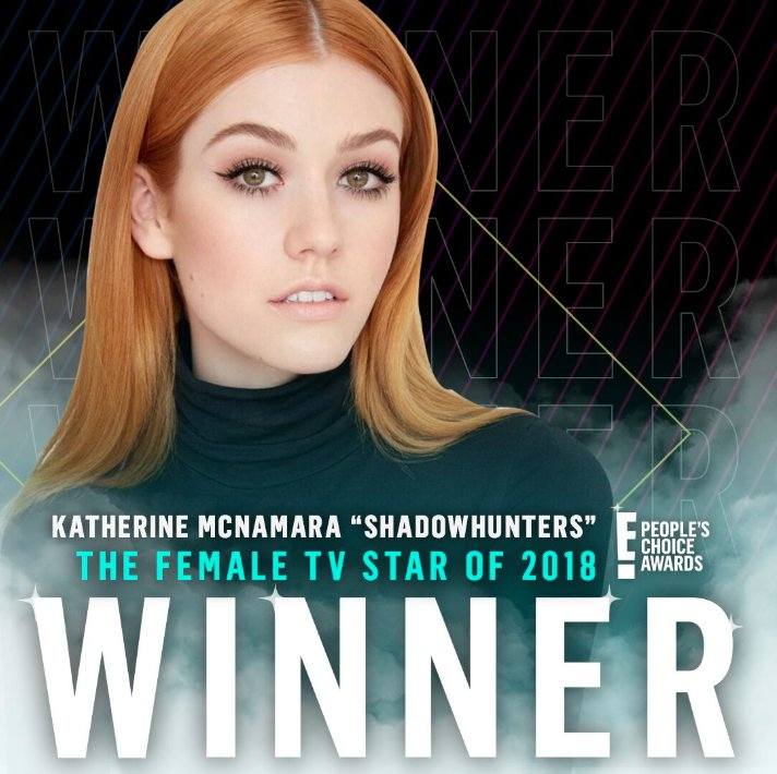 #Shadowhunters fans unite! @Kat_McNamara won #TheFemaleTVStar. RT to bless and Angel's timeline. #PCAs