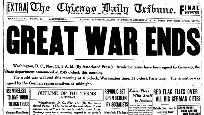 One hundred years ago, at the eleventh hour of the eleventh day of the eleventh month of 1918, the bloodiest war in history ended. World War I began senselessly, ended senselessly, and left a legacy of disaster that lasted for the rest of the century. Photo