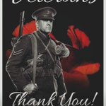 Image for the Tweet beginning: #100yearsofremembrance Thank you to all