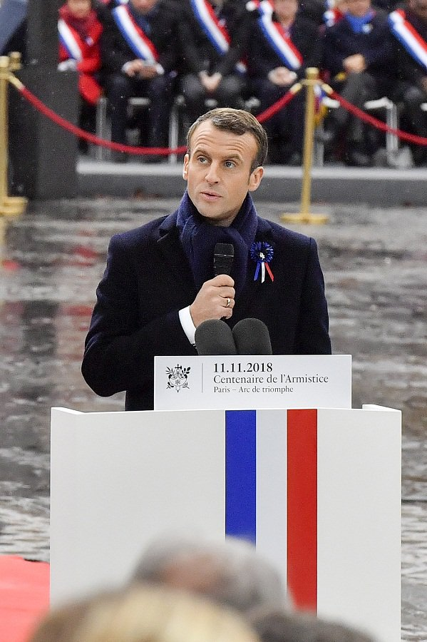 Upon centenary of #WWI armistice, #Macron warns rising risk of nationalism to world peace https://t.co/thphXJWaPE