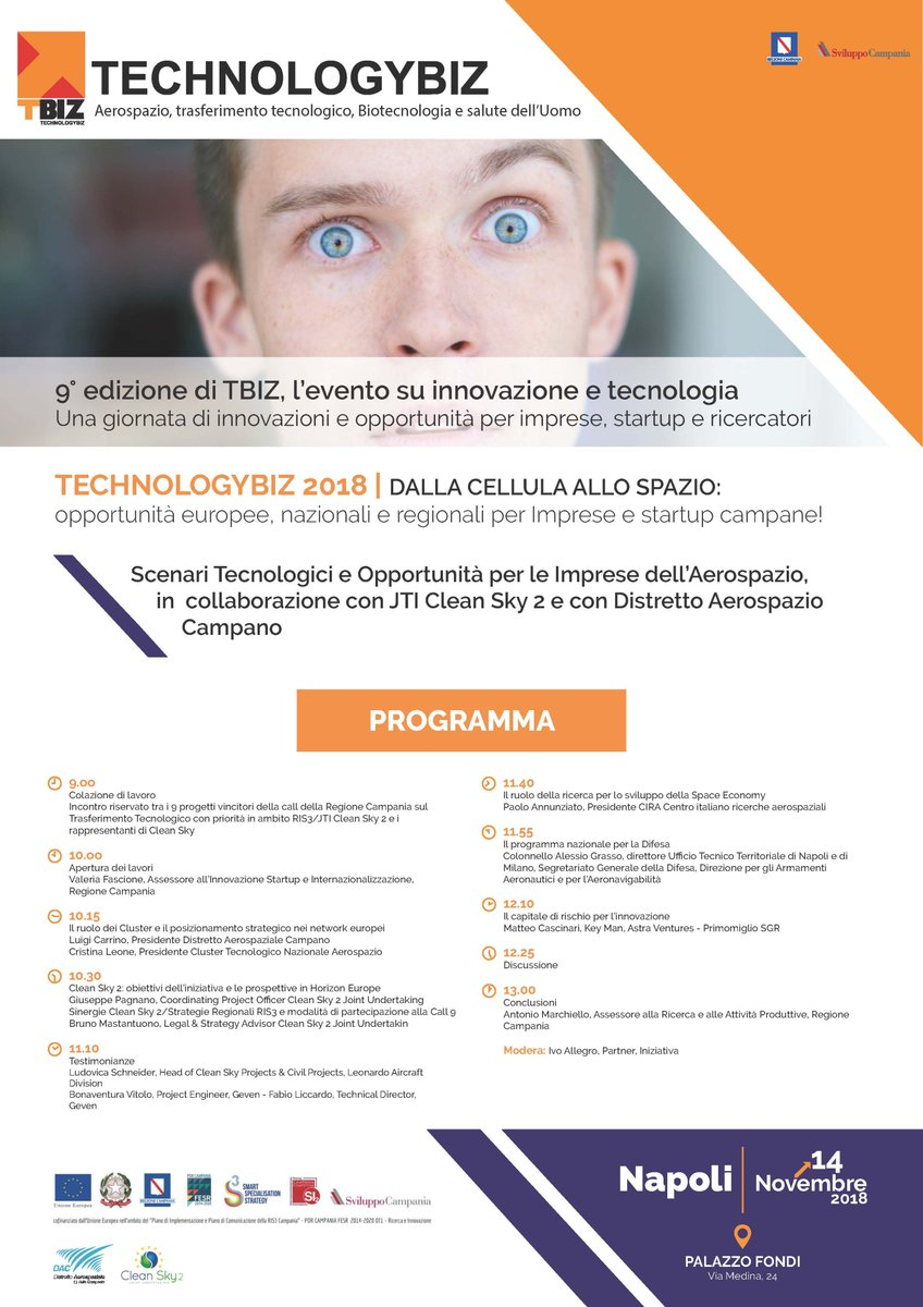 test Twitter Media - Il 14 novembre presso il Palazzo Fondi di Napoli si terrà la 9° edizione di #TBIZ, evento su innovazione e tecnologia. Una giornata di innovazioni e opportunità per imprese, startup e ricercatori Modera: @ivo_allegro - Partner di Iniziativa. https://t.co/LvoAg9gsYv