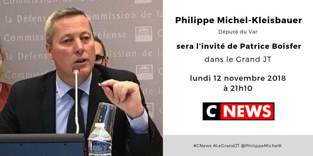 Lundi 12 novembre à 21h10, @philippemichelk sera l'invité de @PatriceBoisfer sur @CNEWS dans le Grand JT #MoDem #LaREM #CNews #LeGrandJT