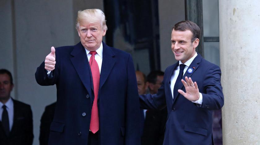 основе прибытие трампа во францию фото расскажу