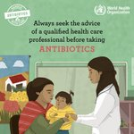 Don't misuse #antibiotics. Handle them with care to prevent the spread of #AntibioticResistance:  👉 Always seek the advice of a qualified health care professional before taking antibiotics.  #WorldAntibioticAwarenessWeek 💊