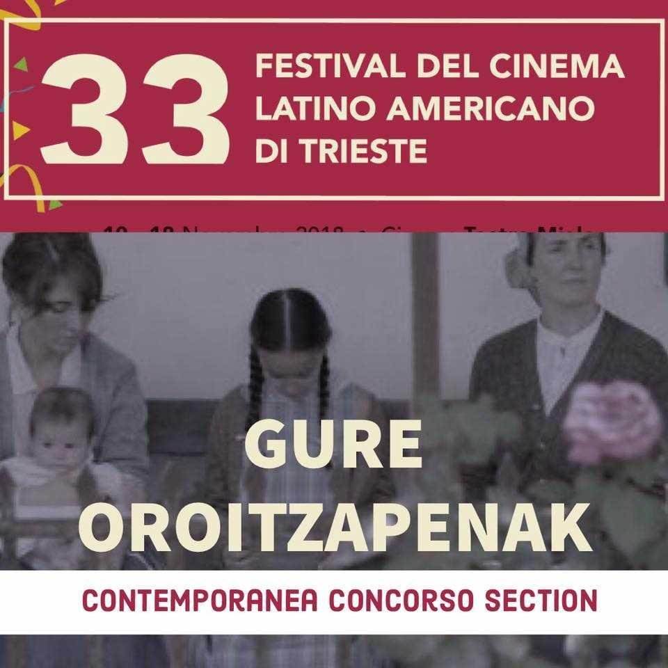 📣 Today is the day!  Hoy Oskar Alegría presentará la película 'GURE OROITZAPENAK' en el Festival del Cinema Latino Americano di Trieste!