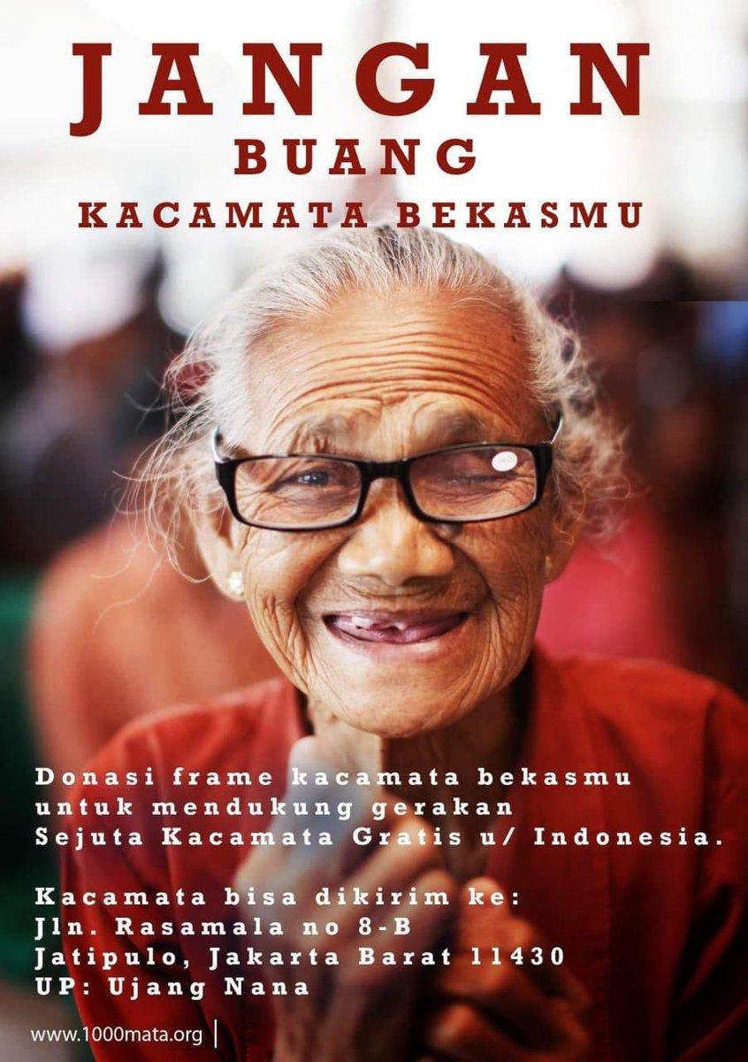 Yuk kita donasikan kacamata bekas kita, untuk dukung: Gerakan Sejuta Kacamata Gratis Untuk Indonesia 😍
