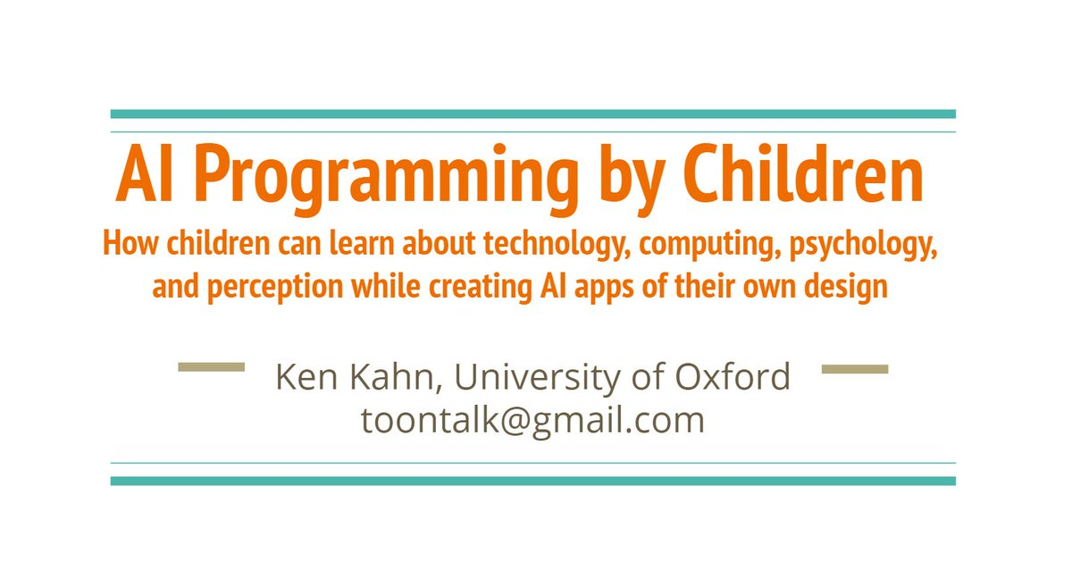 test Twitter Media - Check the eCraft2Learn contribution to '#AI programming by Children' from @toontalk recently presented at @MIT_CSAIL  @TeachersCollege @GoldmanSachs @RealAAAI  https://t.co/MCxuokW1y3 https://t.co/bsNWGOJMnV