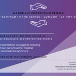 Image for the Tweet beginning: Register for our #MaterialsProtectingPeople event