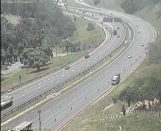 Field Device Maintenance: N2 Southbound after EB Cloete I/C; Left lane closed; Drive Carefully Photo