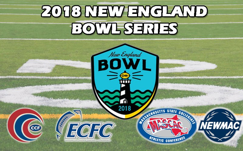 Two #CCCFB Teams, @ECGulls and @SalveAthletics will be participating in the New England Bowl Series!  This is the third year of CCC Football's partnership with @mascacsports, @NEWMACsports, and @d3ECFC to put on the NE Bowl games.  READ MORE: http://cccathletics.com/sports/fball/2018-19/releases/2018NEBowl…   #d3fb