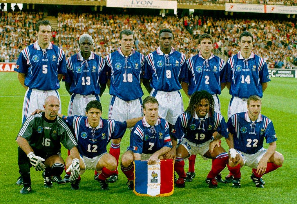 1997 🇫🇷 France national football team v Brazil: Laurent Blanc