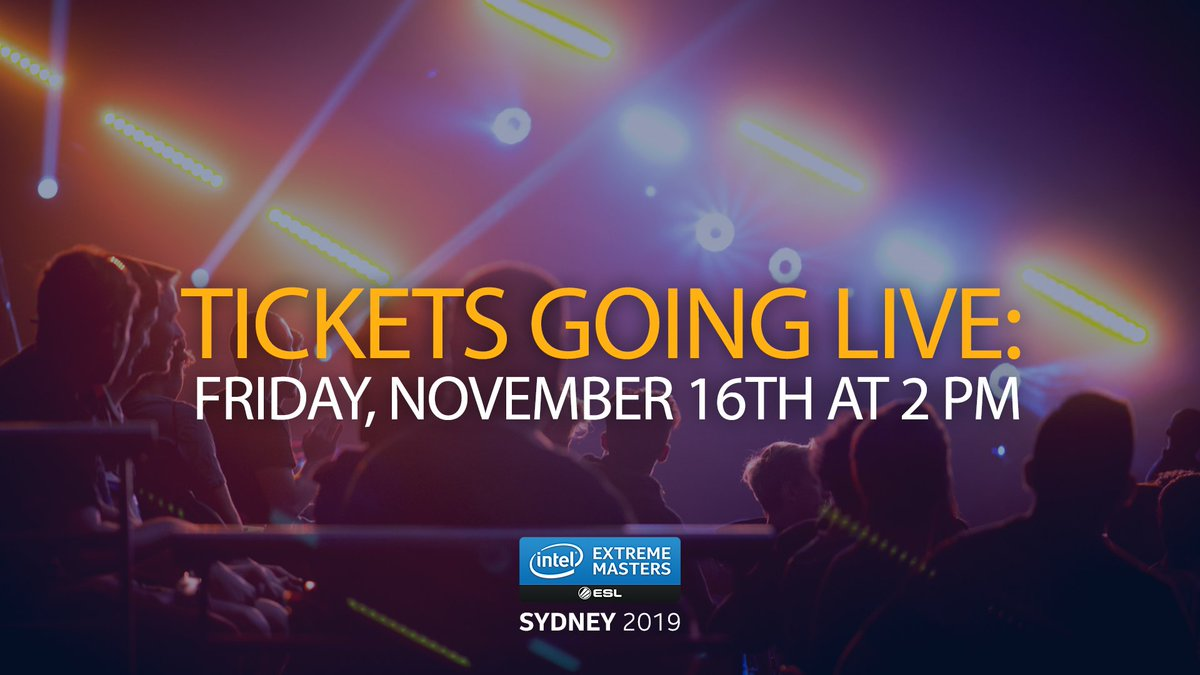 🇦🇺 Get ready to spam that F5 key! *(all times are AEDT) 👉 esl.gg/sydney2019