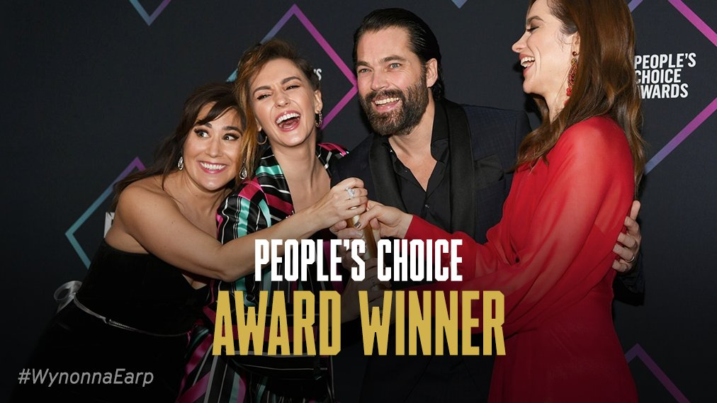You did it, Earpers. #WynonnaEarp is the People's Choice Sci-Fi/Fantasy Show of 2018. #PCAs