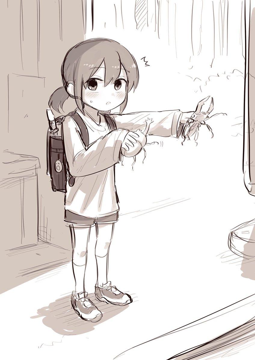 1人虫バトルを見られた五十嵐ちゃん(12)