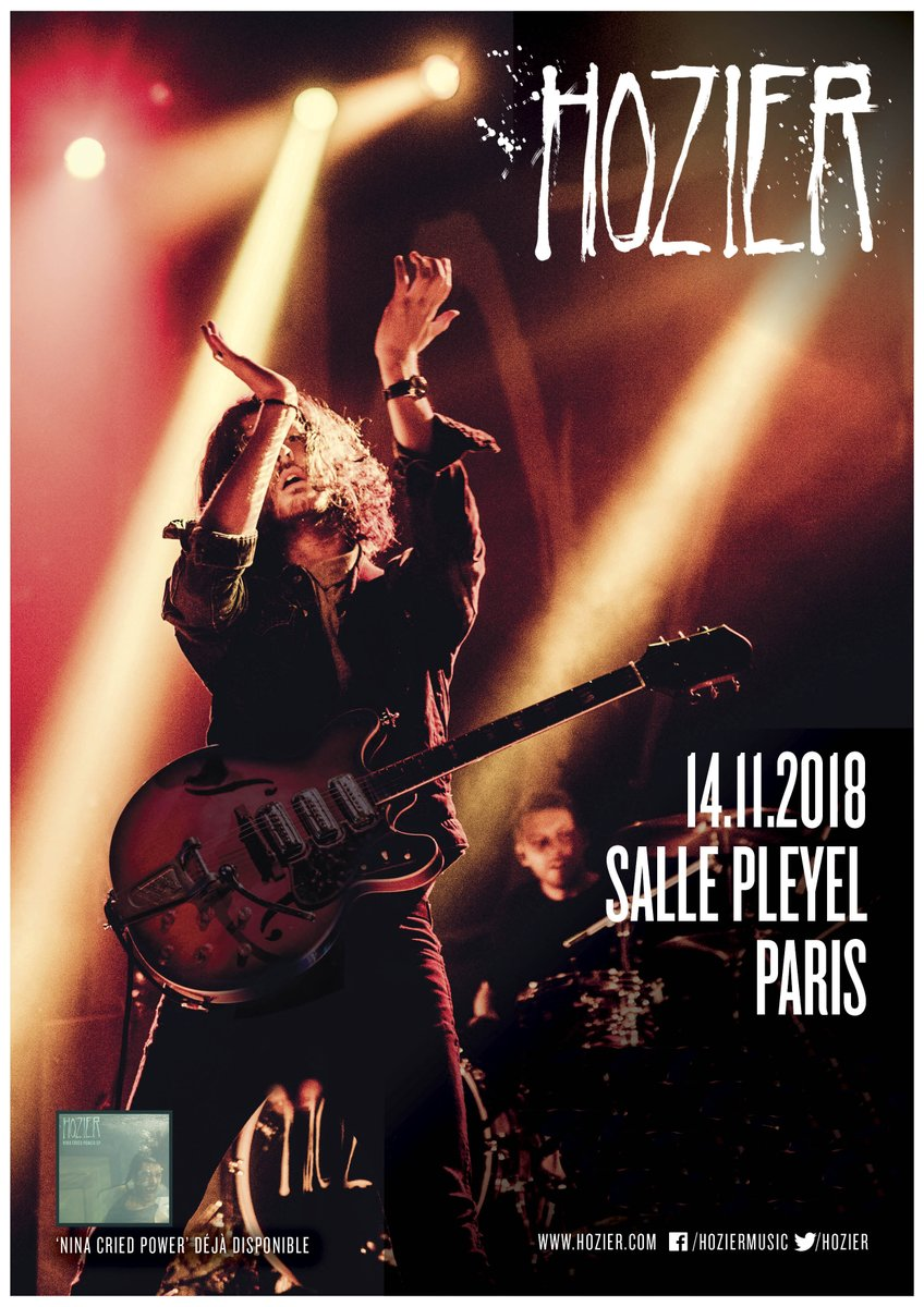 "@Hozier en concert ce mercredi - @sallepleyel L'unique occasion en France de venir chanter ""Take me to church"" en sa compagnie ! Billetterie : https://t.co/QvMNaFk4Ge https://t.co/eUaYfKJDQH"