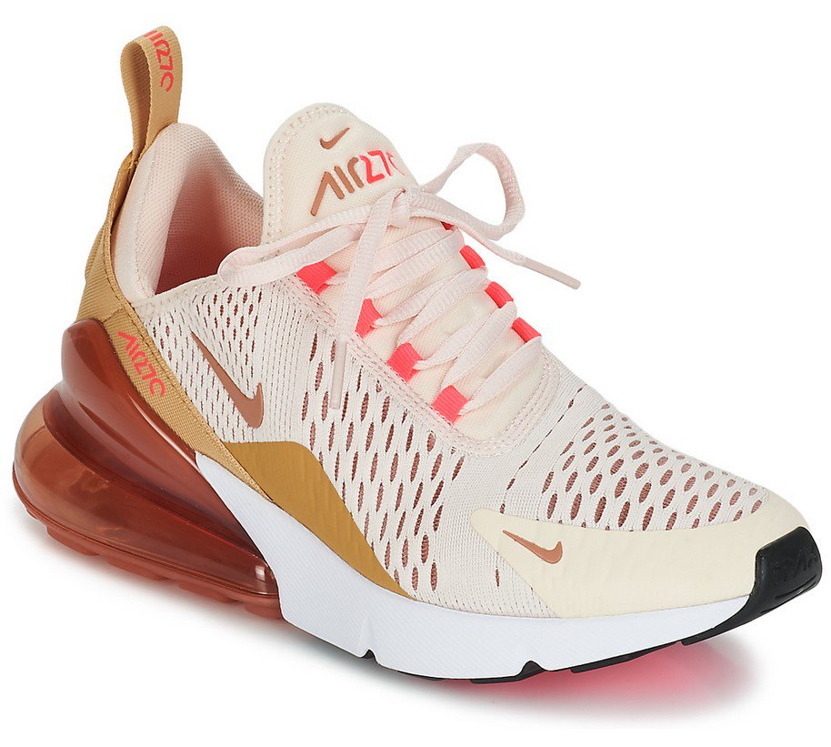 separation shoes eb3f7 33299 Nike AIR MAX 270 W Baskets Basses Rose pas cher prix Baskets Femme Spartoo  148.95 €