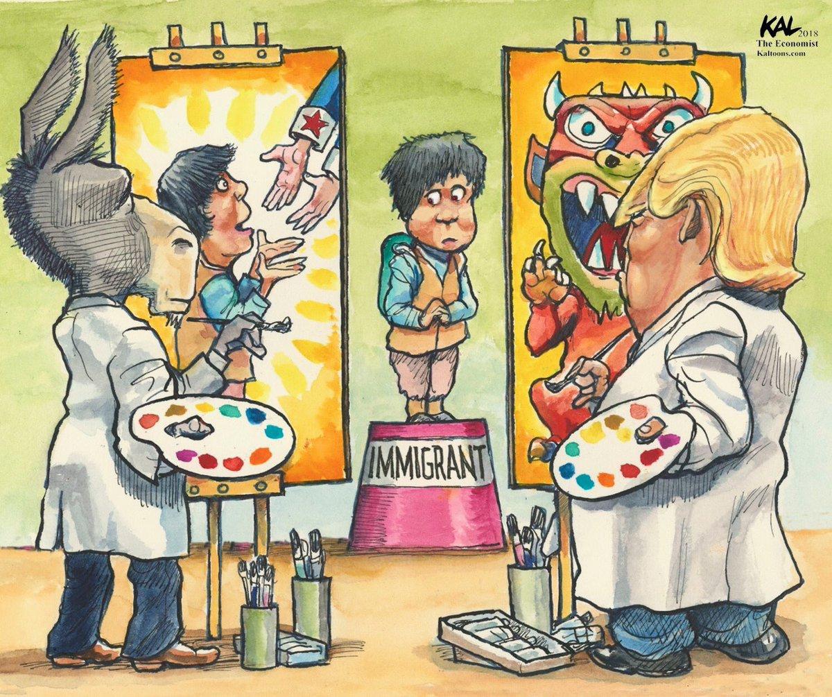 Political Cartoon On Twitter Kal On Immigrants