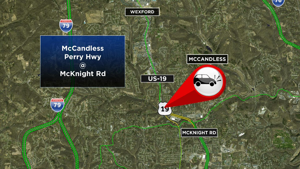 Crash reported in McCandless on Perry Hwy at McKnight Rd @KDKA