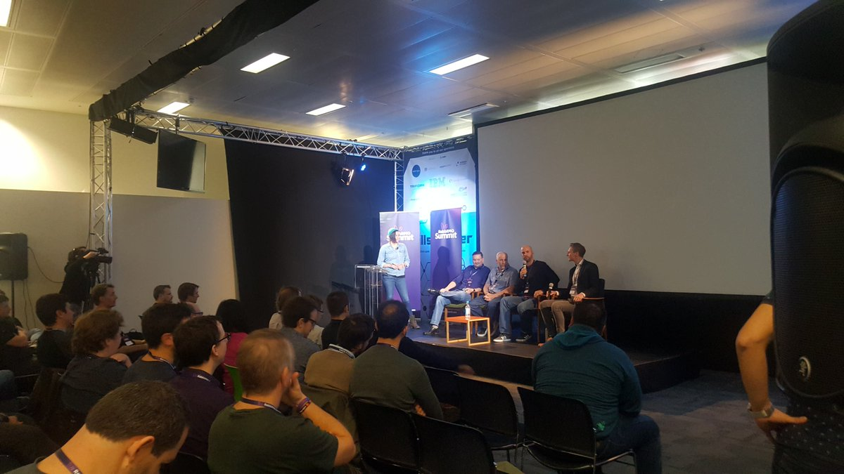 Pivotal's Karl Nilsson answers a question on a panel at the RabbitMQ Summit 2018