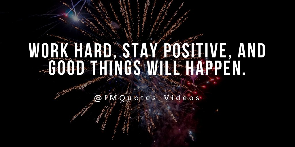 Inspired Motivation Quotes On Twitter A Positive Attitude And Hard