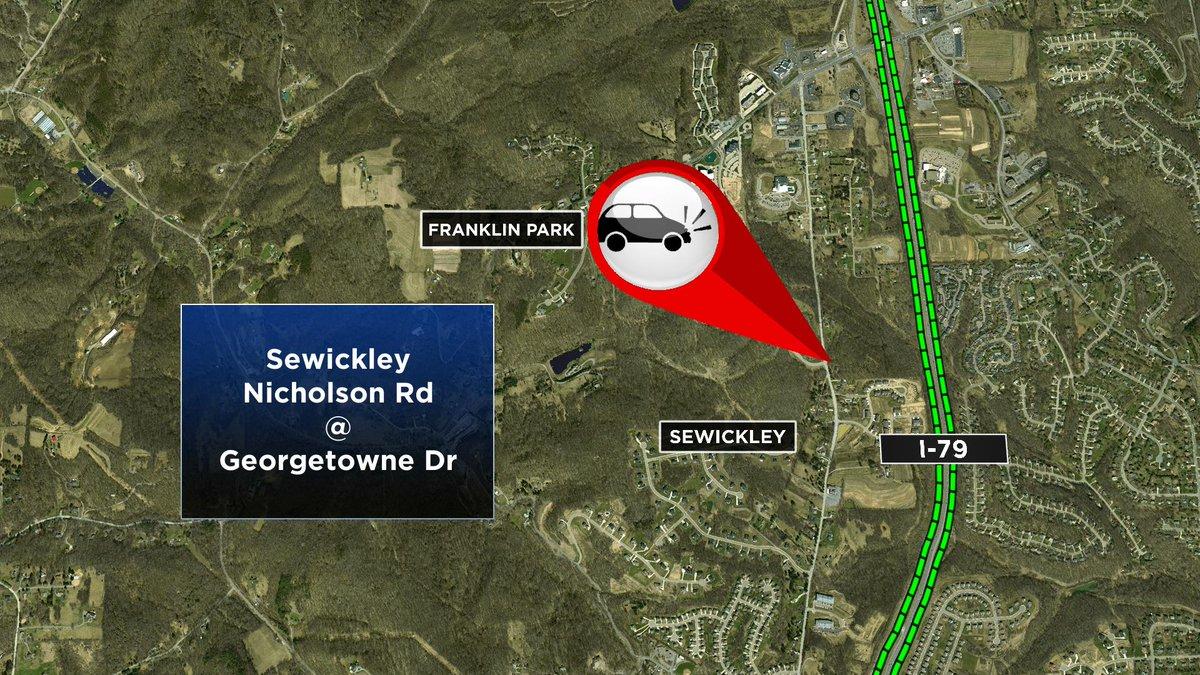Crash in Sewickley on Nicholson Rd at Georgetowne Dr @KDKA