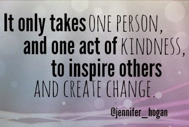 Will you be that one person with that one act of kindness? Your answer matters. @Jennifer_Hogan