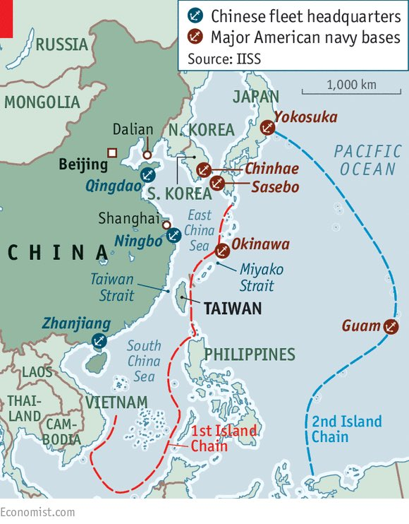 """Josh Wolfe on Twitter: """"3/ Taiwan has major US navy fleet with China naval  HQ at Zhanjiang in the south + Ningbo to the north of Taiwan...… """""""