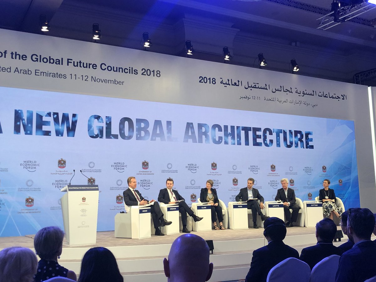 #GFC18 #UAE @wef Closing plenary, A New Global Architecture @HilaryCottam We need a new social contract for the 4th Industrial #Revolution #4IR to take off, otherwise we just keep stumbling