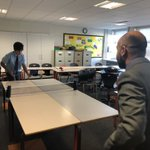 Image for the Tweet beginning: Lunchtime table tennis club in