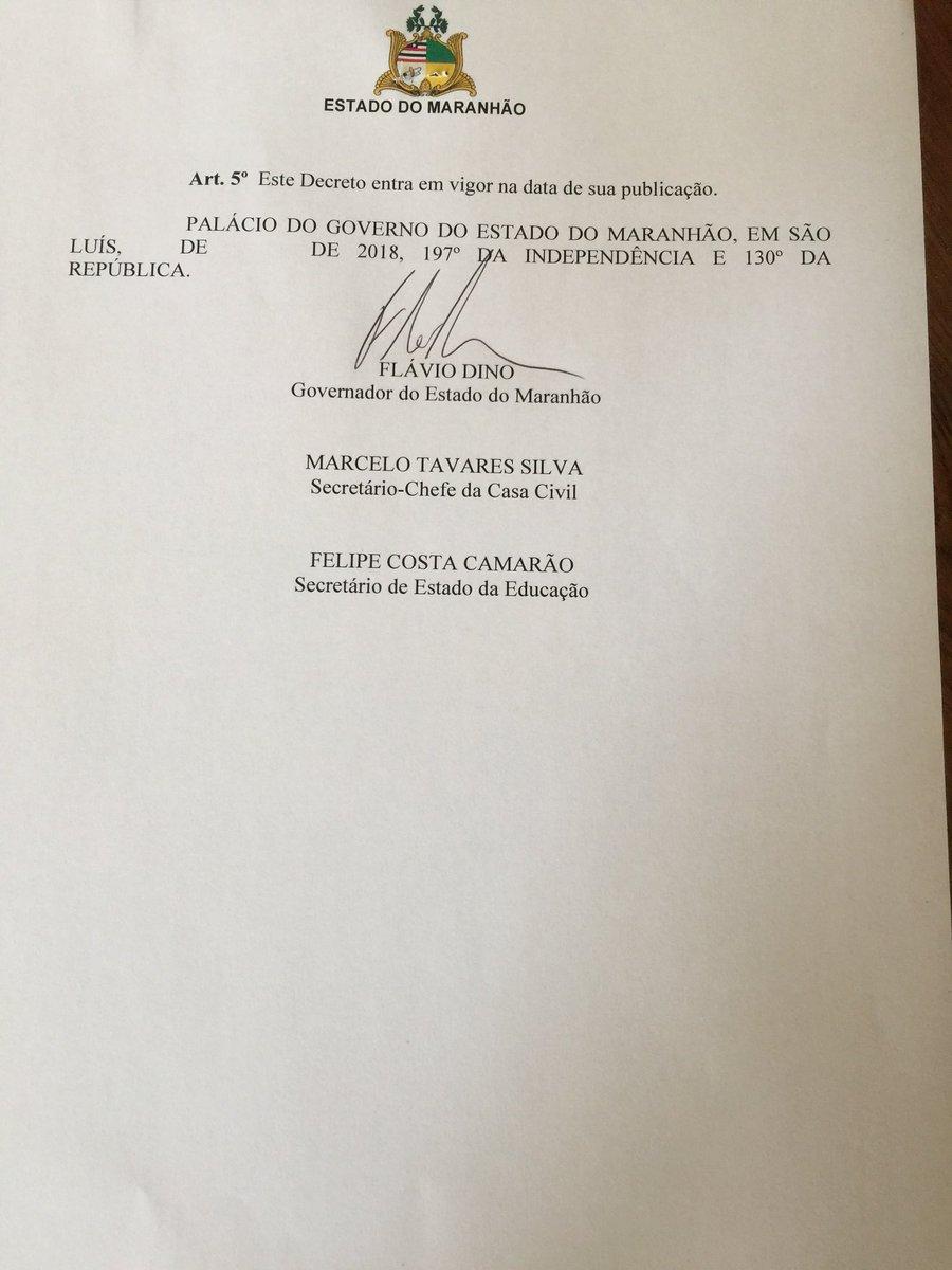 """Editei agora Decreto garantindo Escolas com Liberdade e Sem Censura no Maranhão, nos termos do artigo 206 da Constituição Federal. Falar em """"Escola Sem Partido"""" tem servido para encobrir propósitos autoritários incompatíveis com a nossa Constituição e com uma educação digna."""