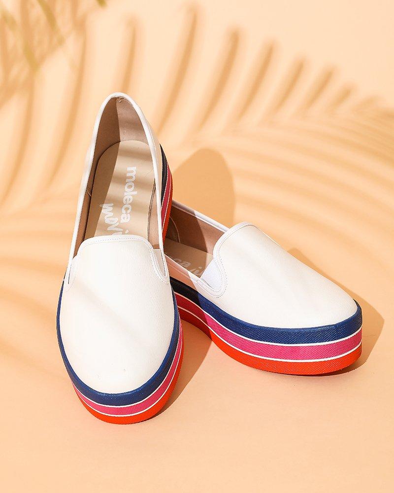 3a97193ed9 Tênis Flattform listrado Moleca  LookLeader  AGenteSeCompleta  flattform   moleca  fashion  calcados