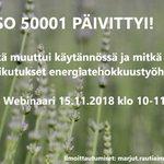 Image for the Tweet beginning: Jos mietityttää #ISO50001 muutokset ja