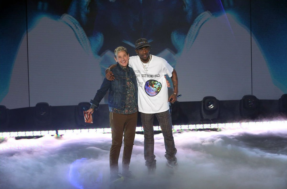 """Watch @trvisXX perform """"Sicko Mode"""" on @TheEllenShow. https://t.co/Jd93b1nY4o"""