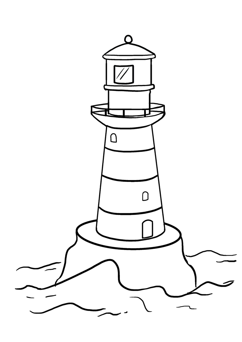 Would you like to draw your very own lighthouse doing so is easy with the help of this simple step by step drawing tutorial https goo gl d29v7t