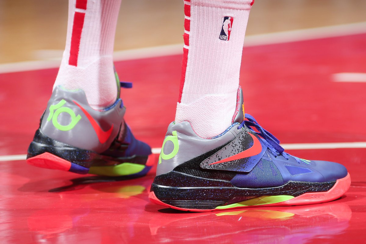 53168eb6bb1f pj tucker brought out the nerf nike kd 4 this man not playing fair