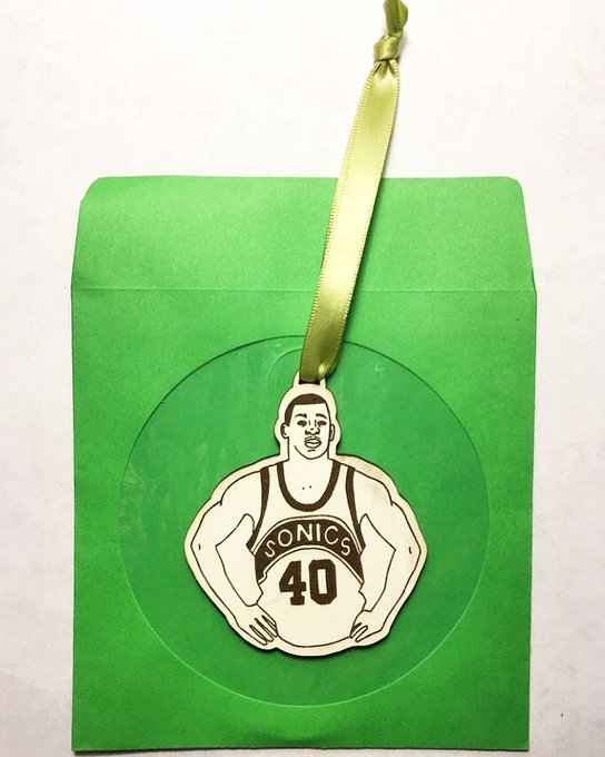 Who doesn\t need a Reign Man ornament for their tree this year? Happy bday Shawn Kemp!