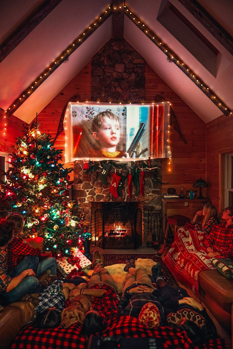 What's your favorite Christmas movie you'd watch in this cozy cabin?