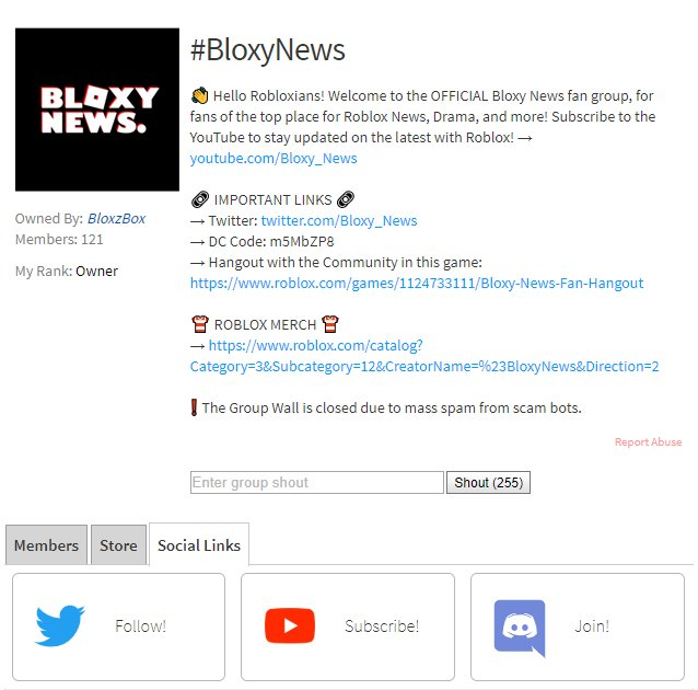 Bloxy News On Twitter Bloxynews You Can Now Add Social Links