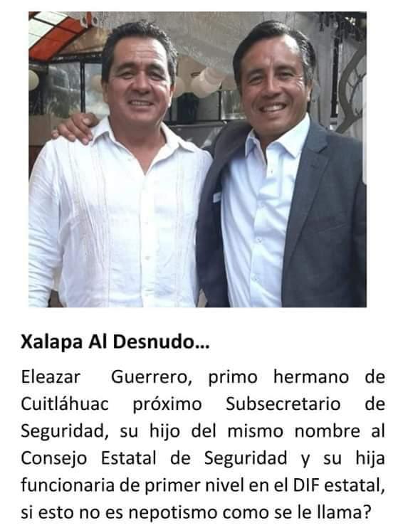 """Y eso que la gente en #Veracruz votó contra el nepotismo, ahí les va """"su cambio"""". @Magno_Evento @Pechmed @MaTere_Mendoza @laura__ceron @VialidadXalapa @reportwitteando @DivinoTormento9 @wera010708 @jorgeberry @OSWALDORIOSM @"""