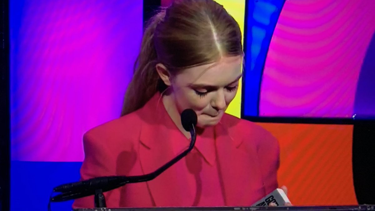 """Me from 2 years ago would be proud of me.""  We don't deserve Elsie Fisher. #GothamAwards #EighthGrade #FilmTwitter"