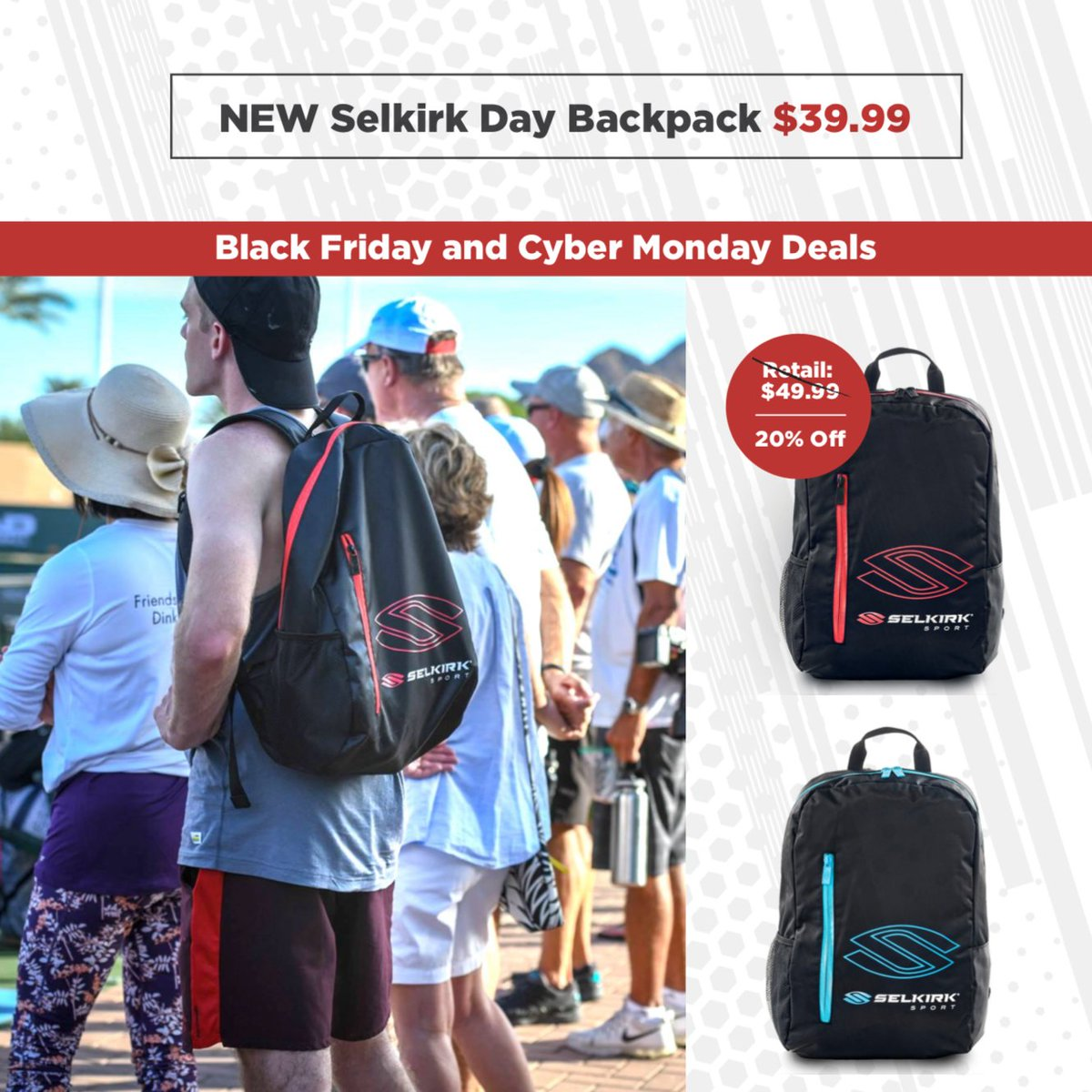 New Selkirk Tour Pickleball Backpack Bag Unique Christmas Gifts d8a4db17e0888