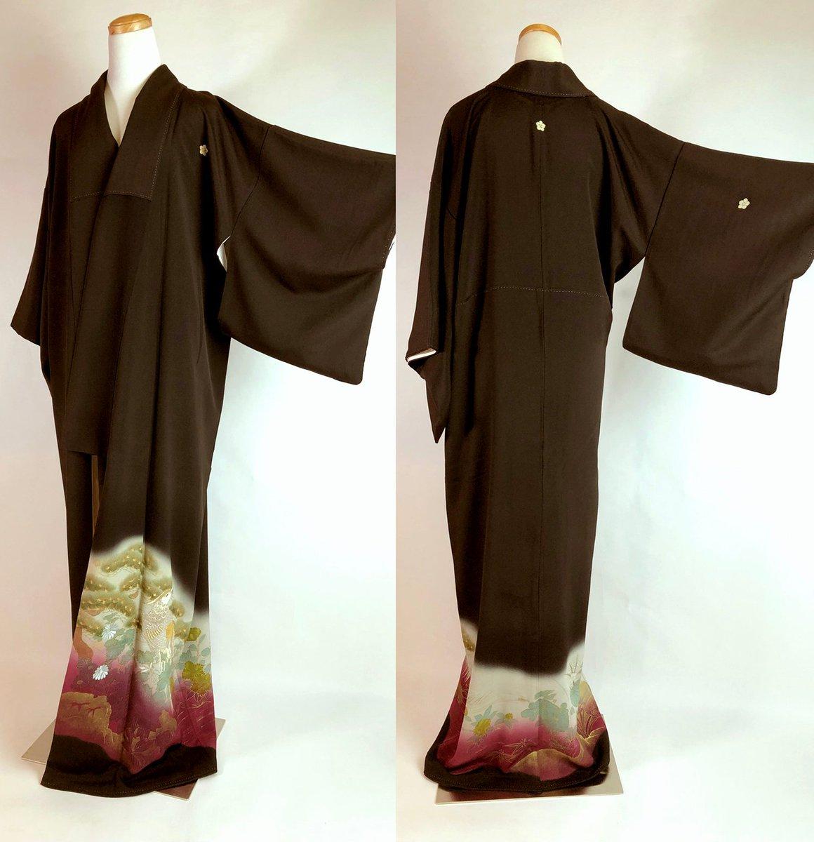 14dffd6eee4 ... shop  Japanese E112502 Elegant Kyo-Yuzen   Embroidery Kuro Tomesode  Kimono Vintage https   etsy.me 2BweMsg  clothing  costume  women  black   purple ...