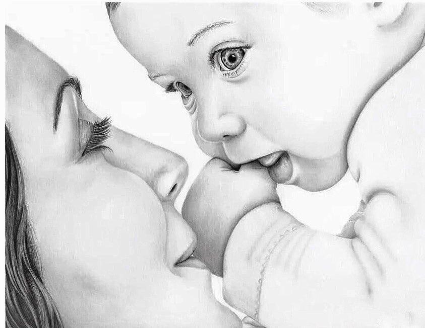 Красивые картинки карандашом маме