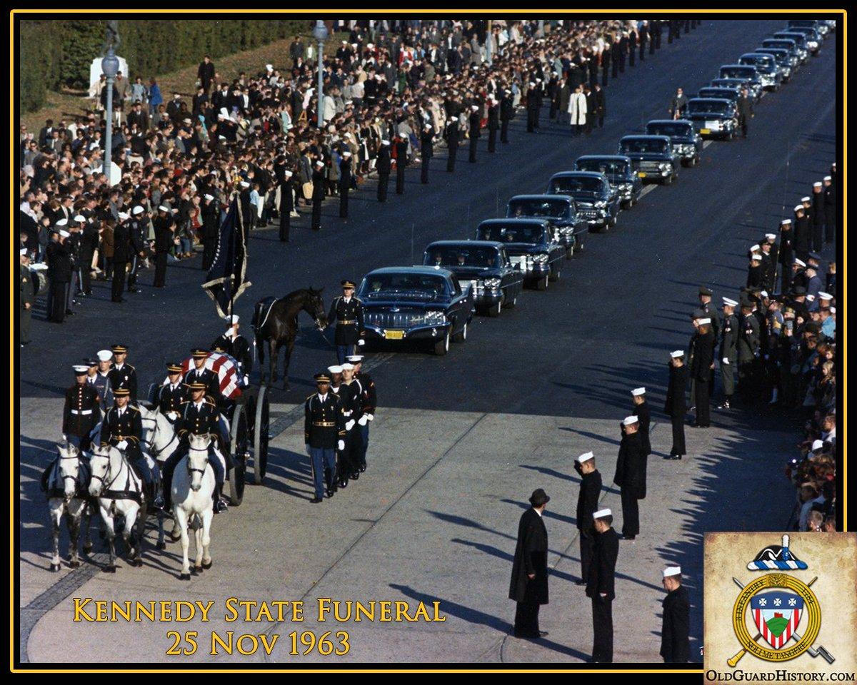 #OTD 1963 - State Funeral of President John F. Kennedy - bit.ly/2P1juBT #honorguard #History #JFK